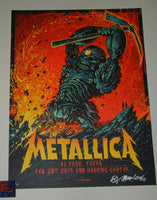 Munk One Metallica El Paso Poster Blue Variant Artist Edition 2019