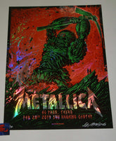 Munk One Metallica El Paso Poster Swirl Foil Variant Artist Edition 2019