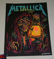 Munk One Metallica Poster Lincoln Glow in the Dark Variant 2018 Artist Edition