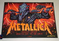 Munk One Metallica Louisville Poster Orange Variant Artist Edition 2019
