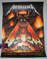 Munk One Metallica Poster Mexico City 2017 Artist Edition Night 3