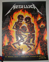 Munk One Metallica Poster Mexico City 2017 Artist Edition Night 2