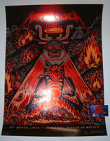 Munk One Metallica Poster Mexico City Red Foil Variant 2017 Artist Edition Night 3