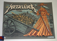 Munk One Metallica Poster London 2017 Artist Edition