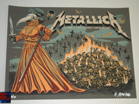 Munk One Metallica Poster London 2017 Artist Edition Night 2