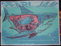 Munk One Pearl Jam Los Angeles Poster Night 3 Shark