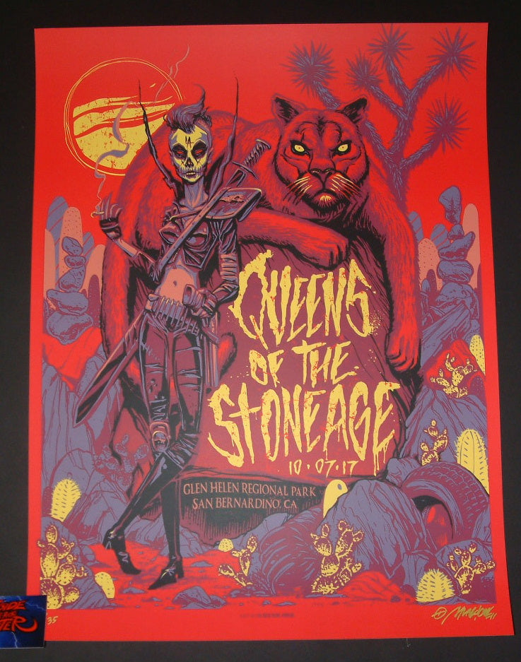 Munk One Queens of the Stone Age Poster San Bernardino 2017 Artist Edition