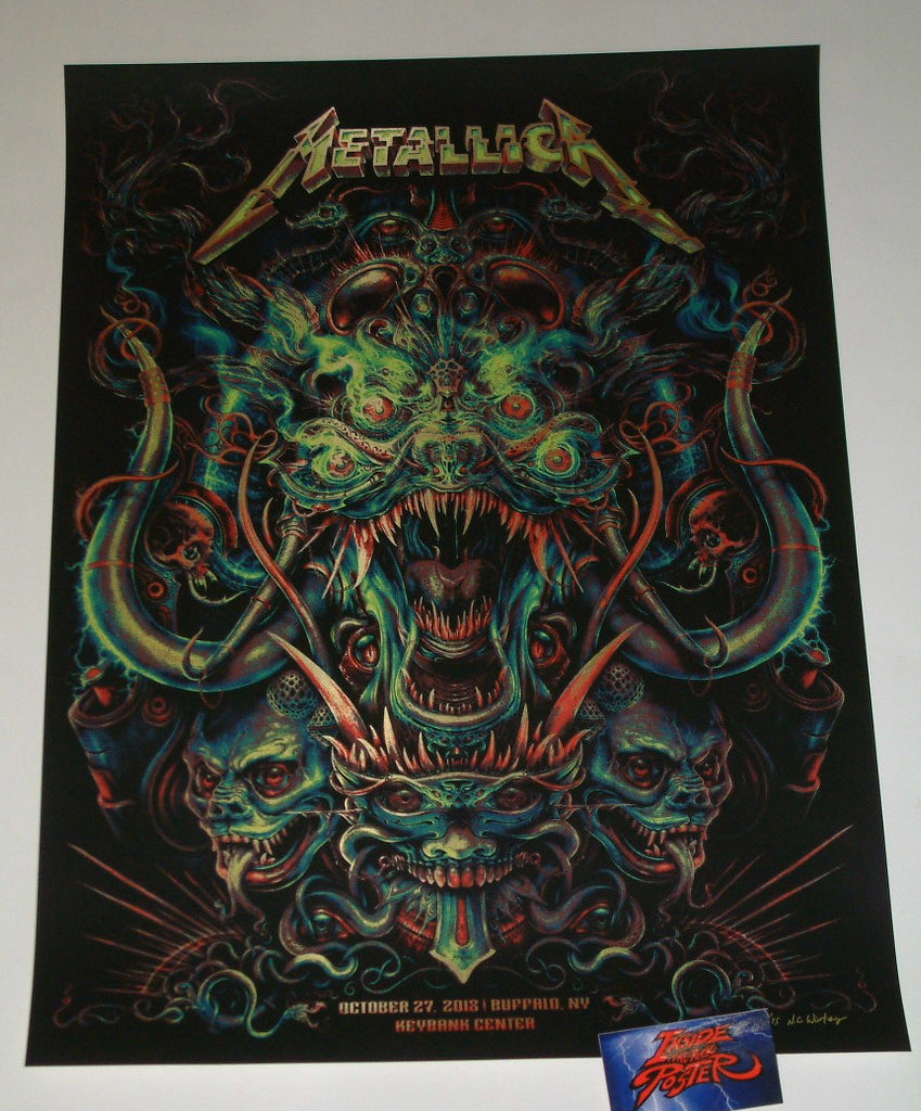 N. C. Winters Metallica Buffalo Poster Gold Foil Variant Artist Edition 2018