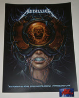 N. C. Winters Metallica Pittsburgh Poster 2018