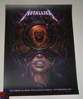 N C Winters Metallica Pittsburgh Poster Artist Edition 2018