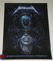 N C Winters Metallica Pittsburgh Poster Deep Dark Variant 2018
