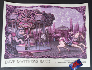 N C Winters Dave Matthews Band Gorge Poster Dusk Variant 2019