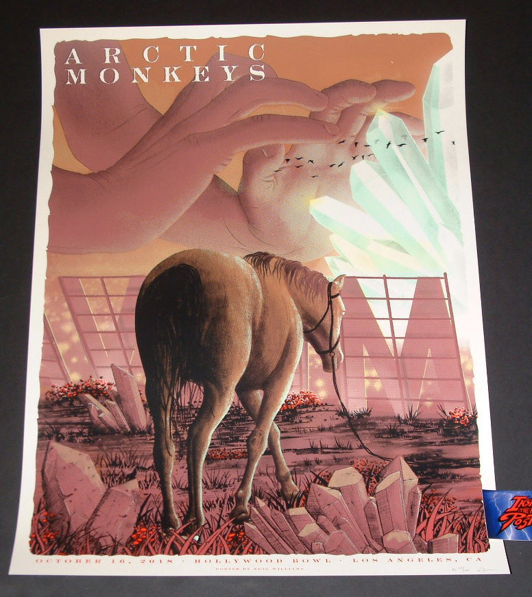 Neal Williams Arctic Monkeys Los Angeles Poster Artist Edition 2018 Night 1
