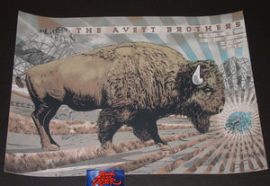 Neal Williams Avett Brothers Poster Missoula 2018 Artist Edition