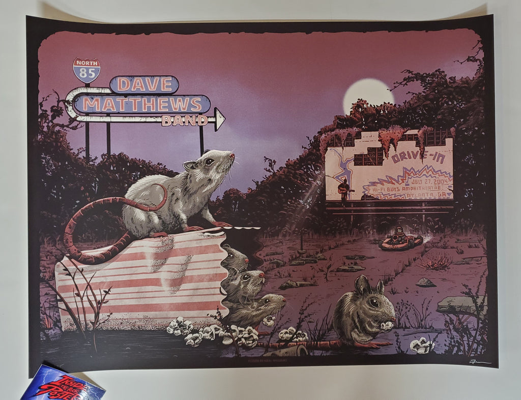 Neal Williams Dave Matthews Band Atlanta Poster Artist Edition Drive In 2020