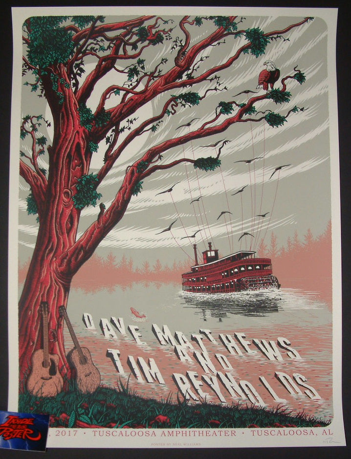 Neal Williams Dave Matthews Tim Reynolds Tuscaloosa Poster 2017 Artist Edition