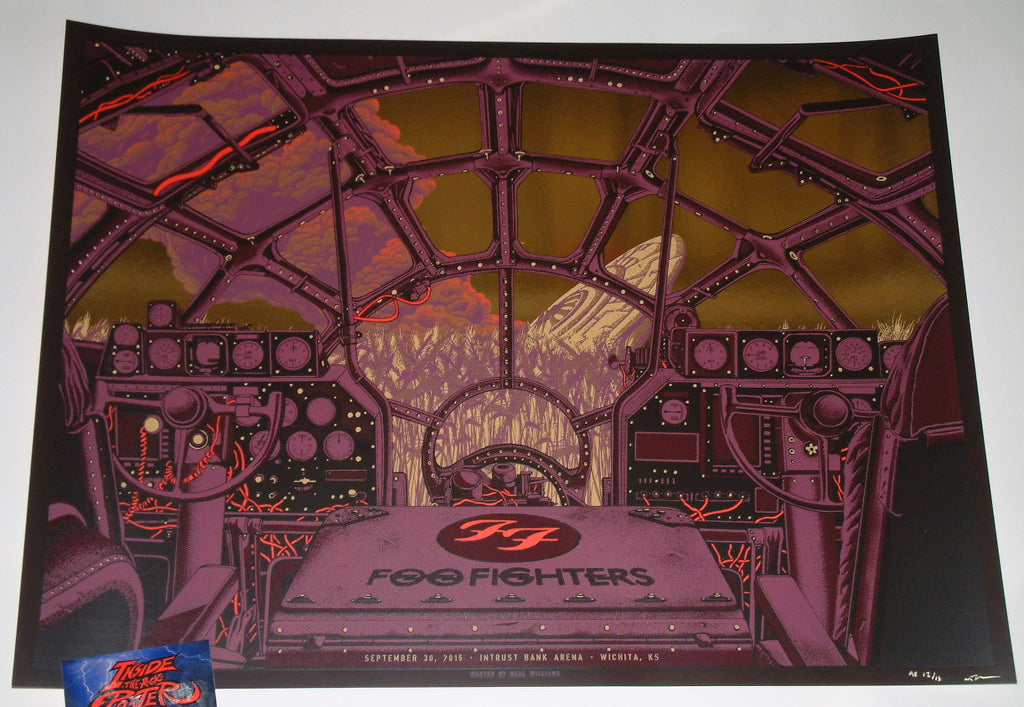 Neal Williams Foo Fighters Poster Wichita Gold Foil Variant 2015