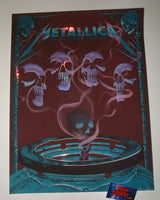 Neal Williams Metallica Madrid Poster Foil Variant VIP Artist Edition 2019