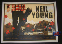 Blair Sayer Neil Young Poster Philadelphia 2014 Artist Edition