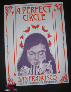Nicomi Nix Turner A Perfect Circle Poster San Francisco 2017 Artist Edition