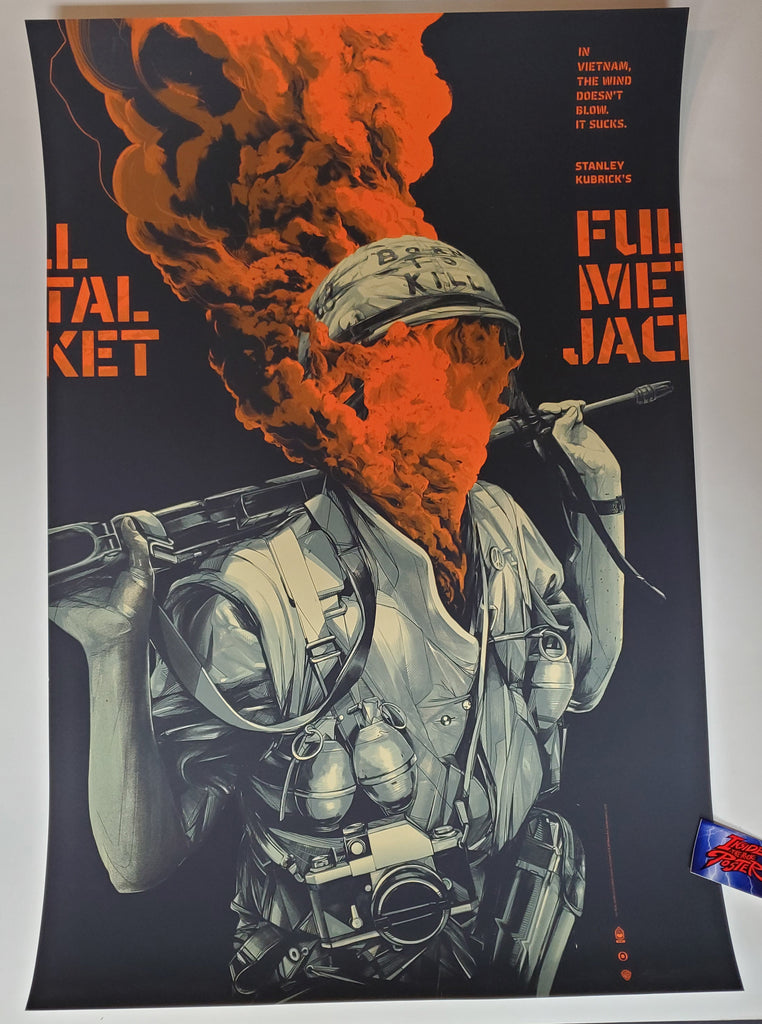 Oliver Barrett Full Metal Jacket Movie Poster Variant Signed AP Mondo 2019