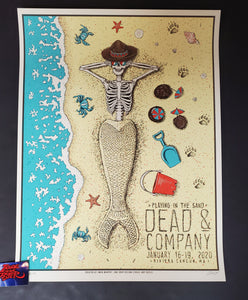 Owen Murphy Dead & Company Cancun Poster Artist Edition Mermaid Skeleton 2020