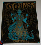 Palehorse Design Foo Fighters Poster Tampa Black Diamond Variant 2018 Artist Edition