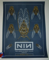 Pat Hamou Nine Inch Nails Poster Nashville Band Crew 2018 Artist Edition