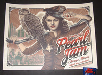 Paul Jackson Pearl Jam Chicago Poster 2018