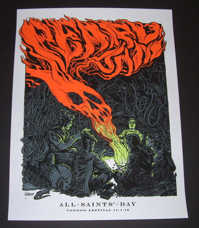 Ames Bros Pearl Jam Poster New Orleans Voodoo Festival 2013 Artist Edition S/N