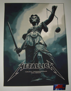 Phantom City Creative Metallica Cologne Germany Poster VIP Artist Proof 2019