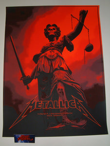 Phantom City Creative Metallica Cologne Poster VIP Red Variant 2019