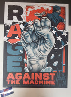 Pitchgrim Rage Against The Machine Battle of Los Angeles Poster Artist Edition 2019