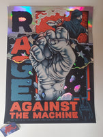 Pitchgrim Rage Against The Machine BOLA Foil Poster Artist Edition 2019