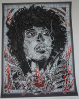 Rhys Cooper Jimi Hendrix The Voodoo Child Art Print 2012 Glow in the Dark
