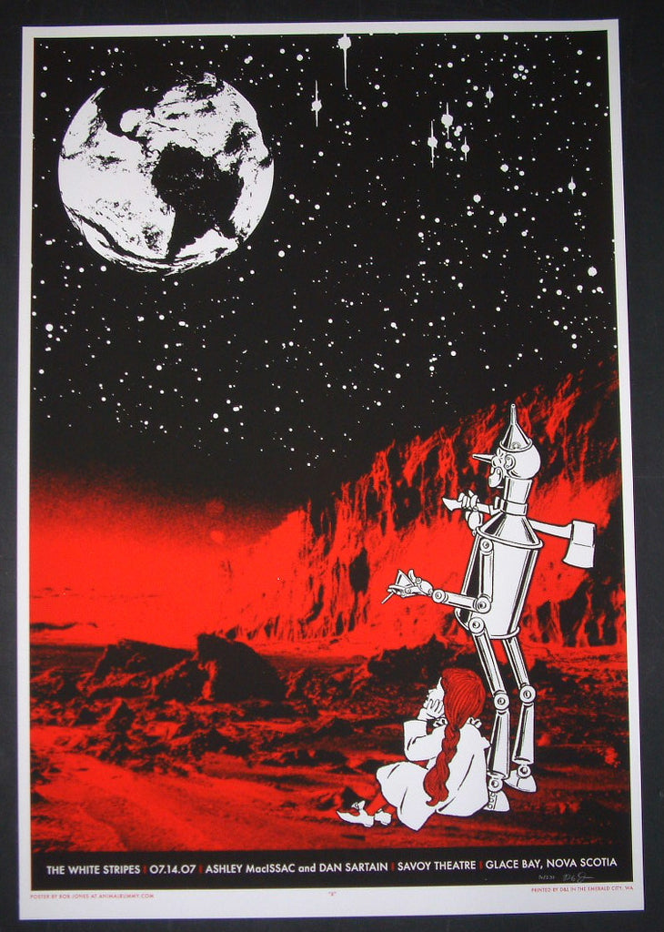 Rob Jones The White Stripes Poster Glace Bay Canada 2007 Artist Edition S/N
