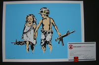 Rene Gagnon Play Date Art Print Light Blue Variant 2013