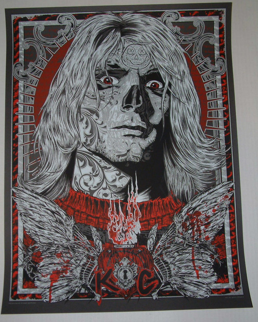 Rhys Cooper Kurt Cobain Fallen Spirit Art Print 2012 Glow in the Dark