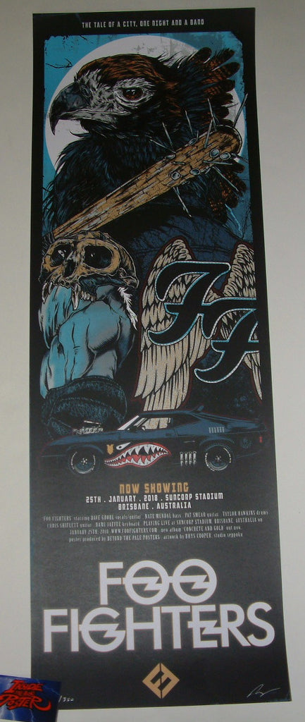 Rhys Cooper Foo Fighters Poster Brisbane Australia 2018 Artist Edition