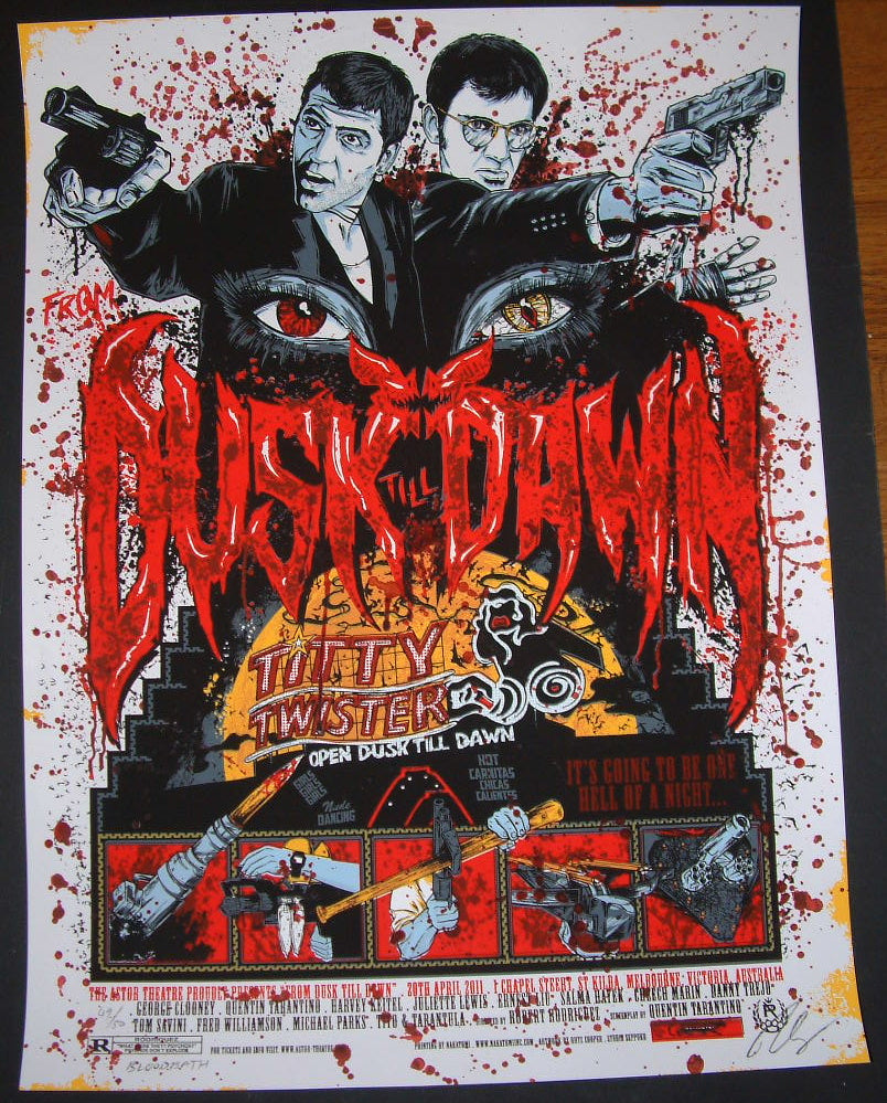 Rhys Cooper From Dusk Till Dawn Movie Poster Bloodbath Variant 2011 S/N