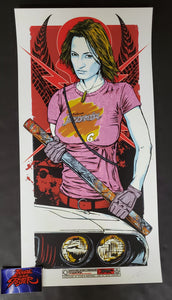 Rhys Cooper Zoe Bell Death Proof Movie Print Artist Edition 2011