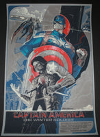 Rich Kelly Captain America Winter Soldier Movie Poster Artist Edition Mondotees 2014