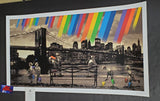 Roamcouch Brooklyn Bridge Art Print Sepia Variant 2014 COA