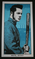 Rob Jones Jack White Fenway Park Boston Poster Tour 2014 Baseball Card
