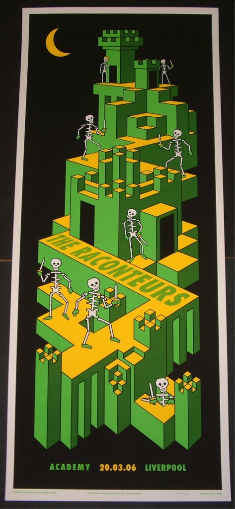 Rob Jones The Raconteurs Liverpool England Poster S/N