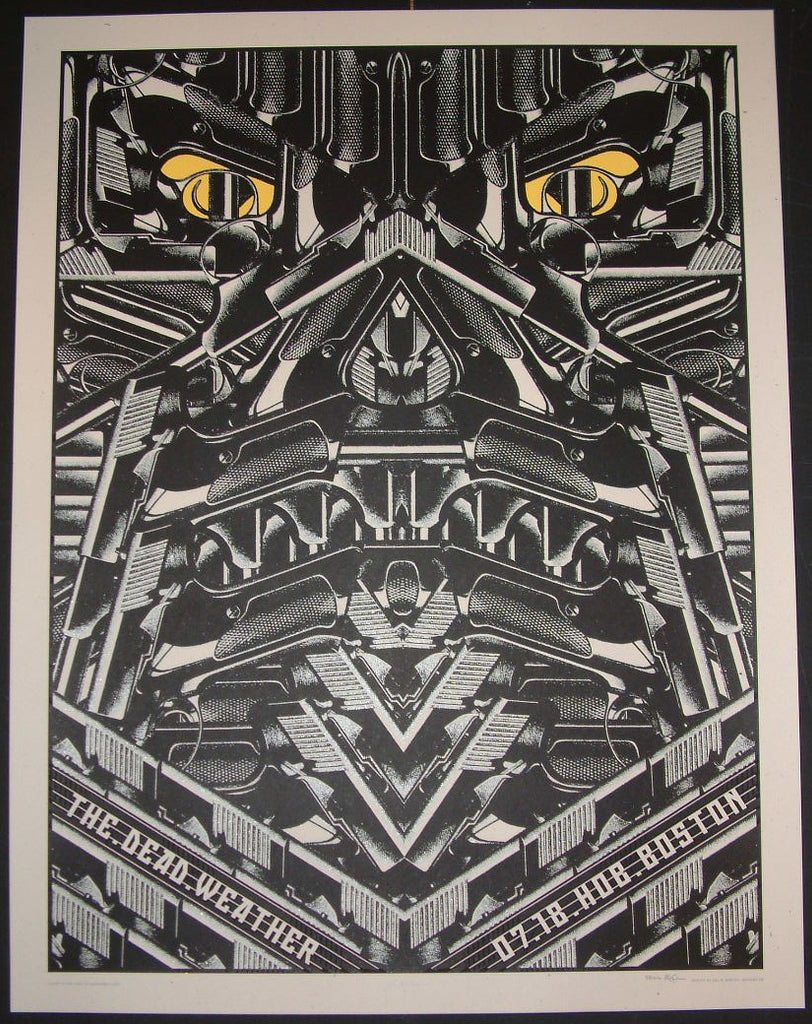 Rob Jones The Dead Weather Boston Poster S/N Glow in the Dark