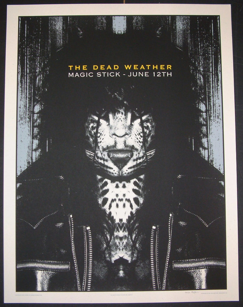 Rob Jones The Dead Weather Detroit Poster S/N Night 1