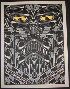 Rob Jones The Dead Weather London England Poster S/N Glow in the Dark