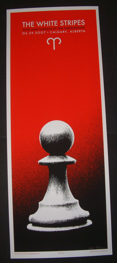 Rob Jones The White Stripes Poster Calgary Canada 2007 Artist Edition S/N