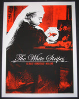 Rob Jones White Stripes Poster Milan Italy 2007 Artist Edition S/N